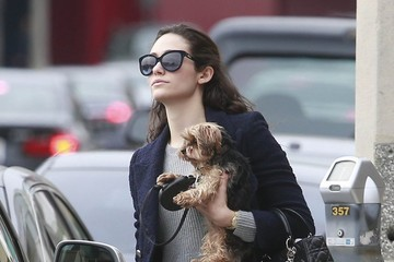Emmy Rossum Emmy Rossum Walks Her Dog