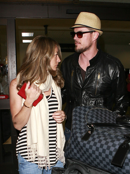 Actor Eric Dane and his wife, actress Rebecca Gayheart are spotted arriving ...