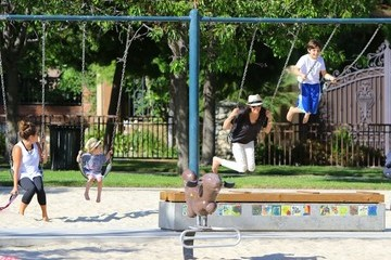 Eric Cowell Lauren Silverman Enjoys a Day at the Park With Her Sons