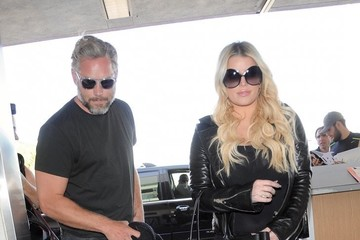 Eric Johnson Jessica Simpson and Eric Johnson Departs From LAX