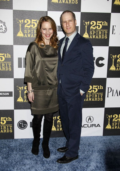 Amy Ryan with cool, Husband Eric Slovin