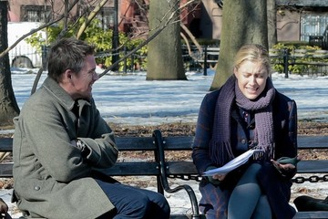 Ethan Hawke Greta Gerwig Scenes from the 'Maggie's Plan' Set