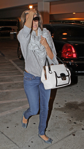 American actress Eva Longoria at LAX airport in Los Angeles.