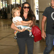 Ever Treadway Alanis Morissette And Family Departing On A Flight At LAX