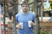 Actor Seth Gabel grabbing some coffee after a morning work out in Vancouver, Canada. Seth and wife Bryce Dallas Howard are expecting their second child very soon.