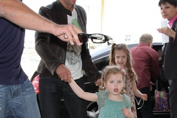Faith Urban Keith Urban & His Girls Departing From LAX