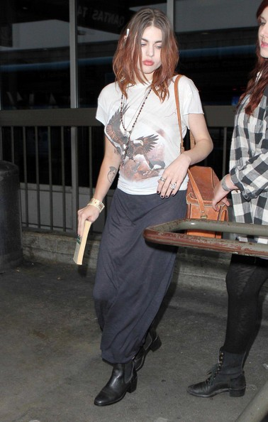 Cellebrity Number One Frances Bean Cobain Arriving At Lax