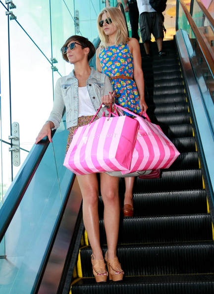 The Saturdays Out Shopping At Beverly Center Mall