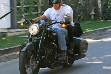 George ClooneyElisabetta Canalis George Clooney And Elizabetta Canalis Out For A Ride In Hollywood
