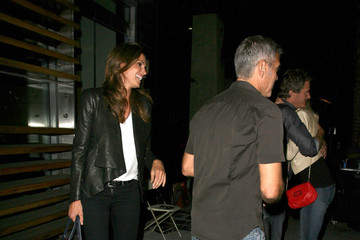 George Clooney Cindy Crawford George Clooney Enjoys A Night Out With Cindy Crawford & Rande Gerber