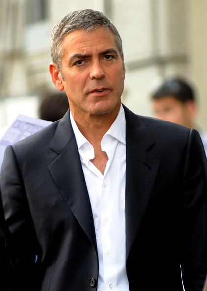George Clooney On Nespresso Commercial In Milan 2 (George Clooney)