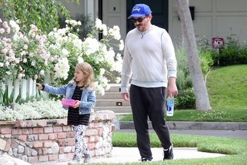 Georgette Falcone Ben Falcone Takes a Stroll with His Daughter