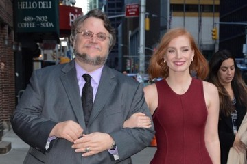 Guillermo del Toro The Cast of 'Crimson Peak' Appears on 'The Late Show With Stephen Colbert'