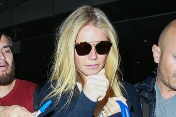 Gwyneth Paltrow Gwyneth Paltrow and Brad Falchuk Arrive on a Flight at LAX