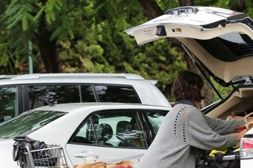 Halle Berry Halle Berry Stocks Up on Groceries