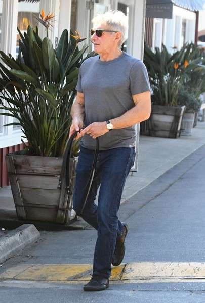 Harrison Ford Drives His Sports Car