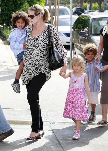 heidi klum kids. Heidi Klum Taking Her Kids To
