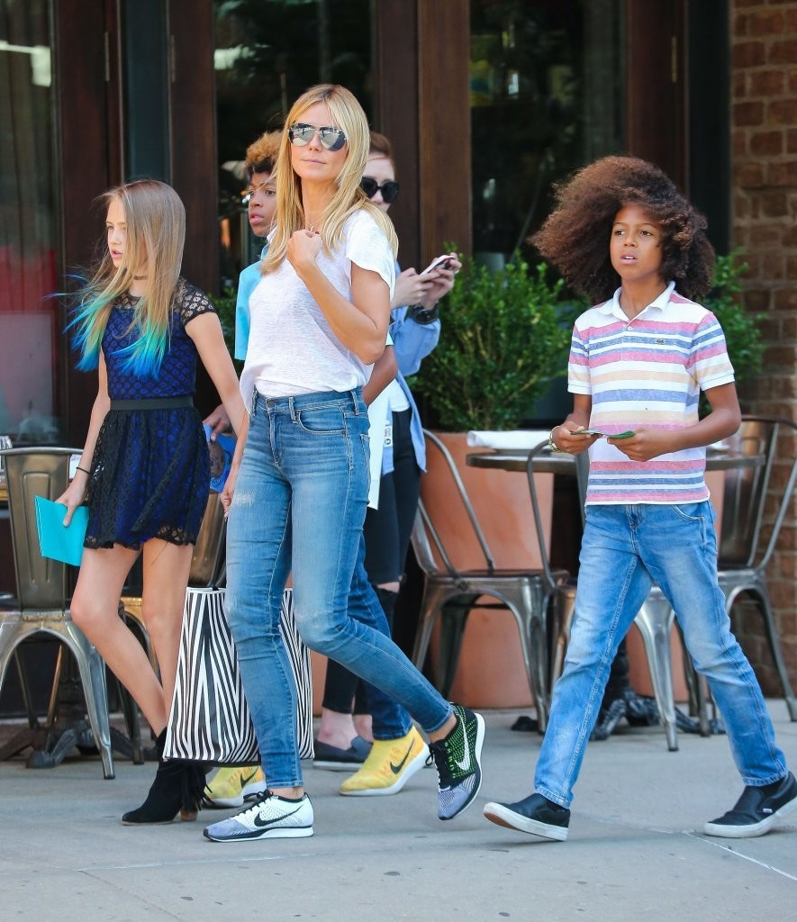 Heidi klum photos photos heidi klum is seen in nyc with her kids