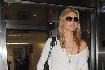 Heidi Klum Heidi Klum Arrives at LAX Airport