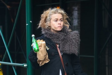 Helena Bonham Carter Helena Bonham Carter Eats Her Lunch On The Go In NYC