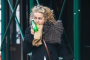 Helena Bonham Carter Eats Her Lunch On The Go In NYC