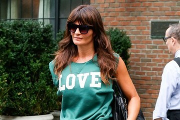 Helena Christensen Celebrities Spotted Outside the Bowery Hotel