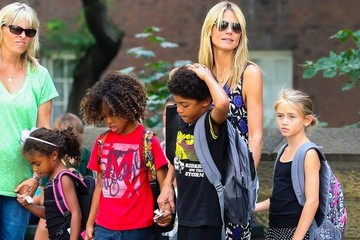 Henry Samuel Heidi Klum Takes Her Kids To The Central Park Zoo