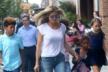 Henry Samuel Heidi Klum Is Seen in NYC With Her Kids