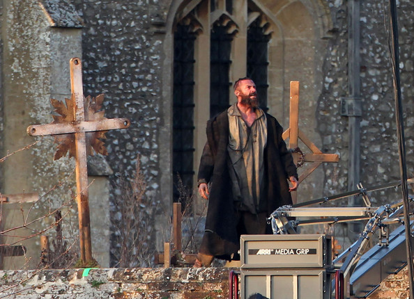 "Actor Hugh Jackman unleashes his ""Wolverine"" as Jean Valjean in an emotional scene of ""Les Miserables"" on March 21, 2012 in the United Kingdom."
