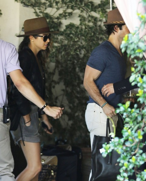 Ian Somerhalder - Nikki Reed & Ian Somerhalder Visit The Sunset Tower Hotel