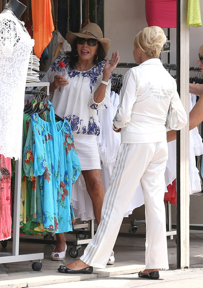 Ivana Trump Photos Photos Joan Collins Enjoys Saint Tropez With