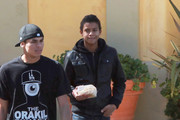 Jaafar Jackson and friends grab food in Woodland Hills, CA. 13 year old Jaafar recently purchased a stun gun online and reports are some children chased Michael Jackson's youngest son, Prince Michael II, aka Blanket, with it when they were caught. Police are currently investigating the matter.