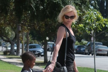 Jackson Theron Charlize Theron Takes Jackson to a Play Date