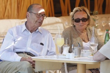 Jacques Chirac Jacques Chirac And Bernadette Chirac Out For Lunch In St. Tropez