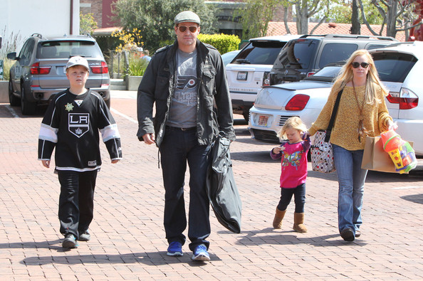 David Boreanaz And Family Out Shopping In Malibu