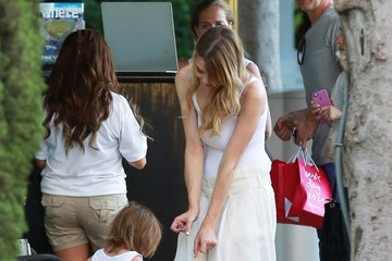 Jaime King James Newman Jaime King Shopping at the Grove With Her Son