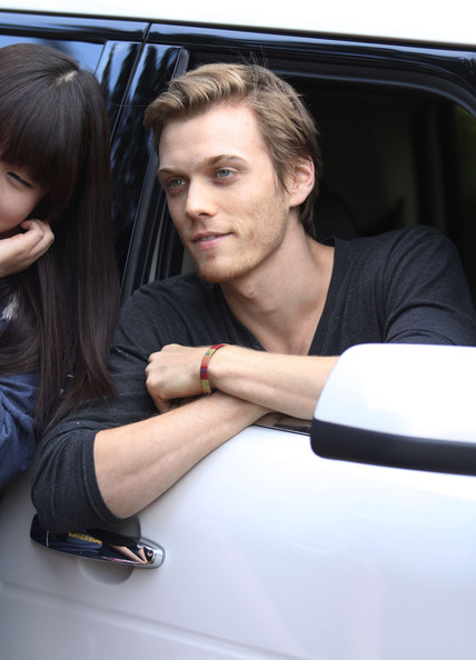 Exclusive.... Actor Jake Abel seen signing autographs for fans after filming his scenes on the set of 'Percy Jackson: Sea Of Monsters' in Vancouver, Canada on May 15, 2012