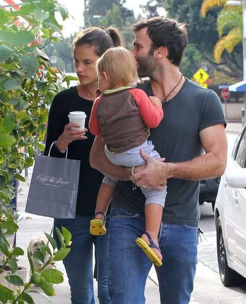 Alessandra ambrosio and her husband jamie mazur take their son noah