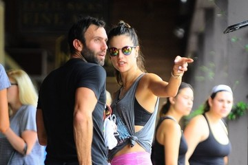 Jamie Mazur Alessandra Ambrosio Meets Up with Her Husband