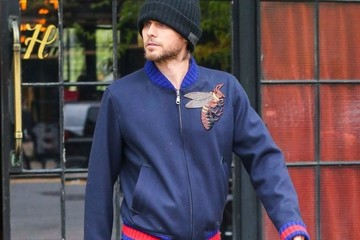 Jared Leto Celebrities Leave the Bowery Hotel in NYC