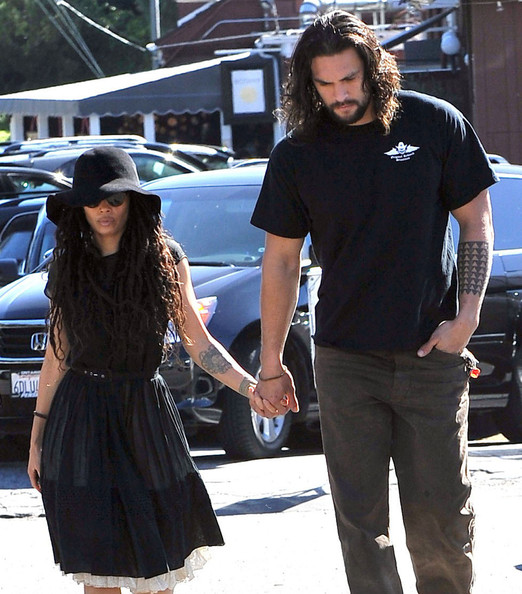 Lisa Bonet And Jason Momoa At The Brentwood Country Mart