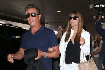 Jennifer Flavin Sylvester Stallone and Family Arrive on a Flight at LAX