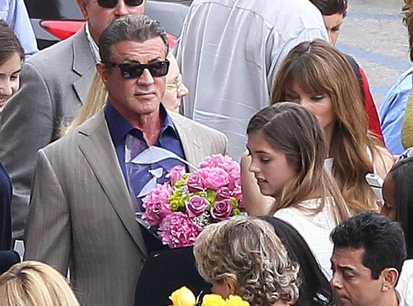 Sylvester Stallone Attends His Daughter's Graduation