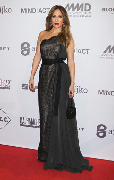 Jennifer Lopez Celebrities at the UNESCO Charity Gala 2012 at the Maritim Hotel in Berlin, Germany on October 27, 2012.<br /> <br /> Pictured: Jennifer Lopez