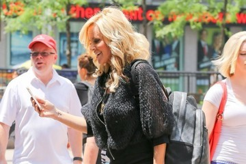 Jenny McCarthy Celebrities Stop By SiriusXM Radio
