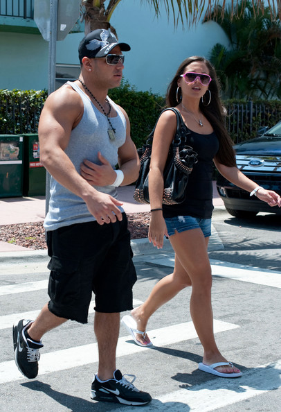 "Ronnie Magro Ronnie and Sammi of ""The Jersey Shore"" were spotted out today"