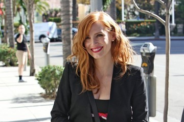 Jessica Chastain Celebrities Spotted After Matthew McConaughey's Walk Of Fame Ceremony