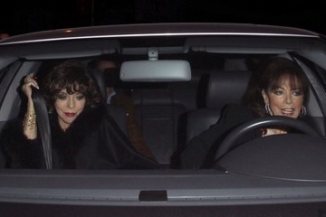 Joan Collins Jackie Collins Celebrities Dine Out at Craig's Restaurant
