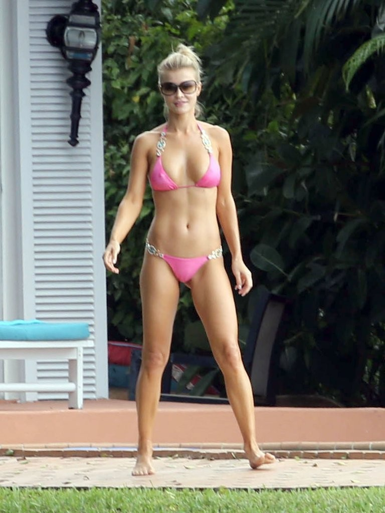 joanna krupa in joanna krupa does headstands in her bikini