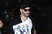Joe Manganiello and Matt Bomer Arrive on a Flight at LAX